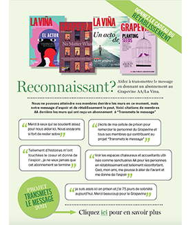 Flyer Give The Gift Of Recovery (French)